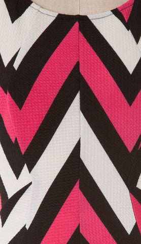 Chevron Sleeveless Dress - Pink - Blue Chic Boutique  - 7