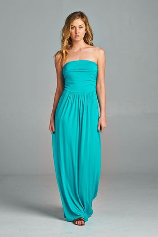 Simple and Stylish Maxi Dress - Jade - Blue Chic Boutique  - 1