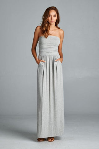 Simple and Stylish Maxi Dress - Royal - Blue Chic Boutique  - 3