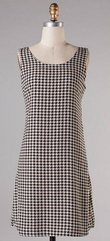Houndstooth Bow Back Dress - Blue Chic Boutique  - 4
