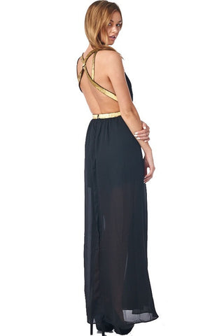 Midnight Maxi Dress - Black - Blue Chic Boutique  - 1
