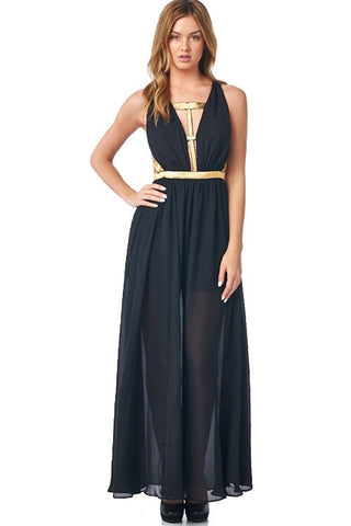 Midnight Maxi Dress - Black - Blue Chic Boutique  - 2