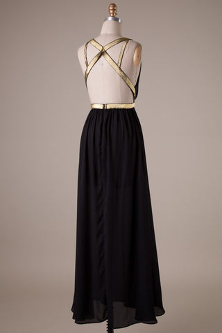 Midnight Maxi Dress - Black - Blue Chic Boutique  - 4