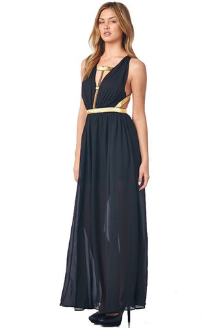 Midnight Maxi Dress - Black - Blue Chic Boutique  - 6