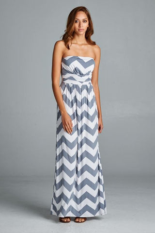 Ocean Breeze Maxi Dress - Gray - Blue Chic Boutique  - 1