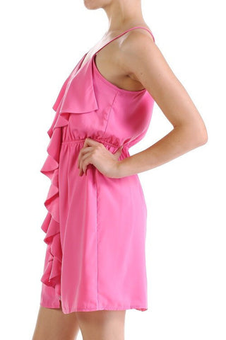 Ruffle Dress - Pink - Blue Chic Boutique  - 2