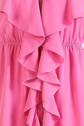 Ruffle Dress - Pink - Blue Chic Boutique  - 6