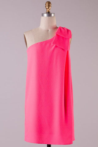 Save the Date Dress - Neon Pink - Blue Chic Boutique  - 1