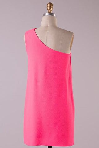 Save the Date Dress - Neon Pink - Blue Chic Boutique  - 2
