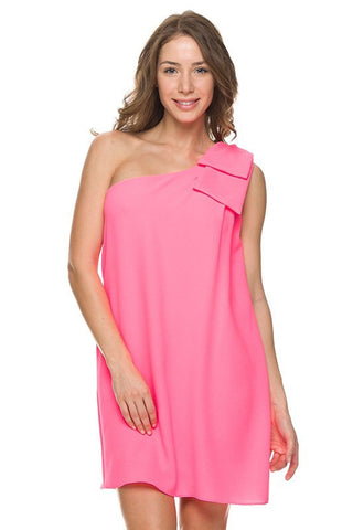 Save the Date Dress - Neon Pink - Blue Chic Boutique  - 3