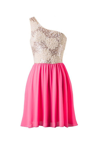 Subtle Sparkle Dress - Neon Pink - Blue Chic Boutique  - 1