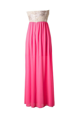 Subtle Sparkle Maxi Dress - Neon Pink - Blue Chic Boutique  - 4