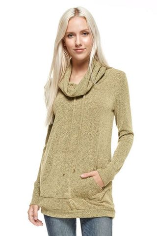 Cozy Fall Evening Top - Mustard - Blue Chic Boutique  - 1