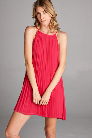Guest of Honor Pleated Dress - Fuchsia - Blue Chic Boutique  - 2