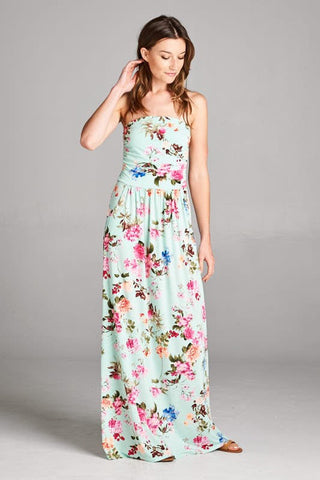 Garden Party Maxi Dress - Mint - Blue Chic Boutique  - 2