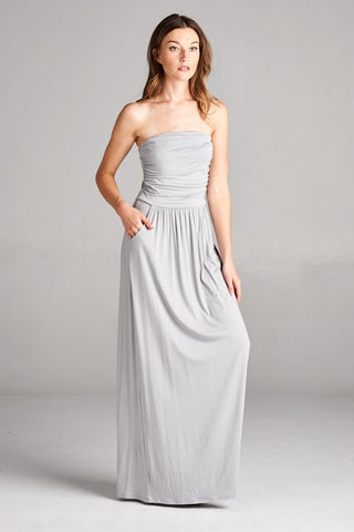 Simple and Stylish Maxi Dress - Cement - Blue Chic Boutique  - 1