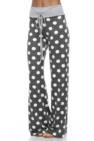 Casual Polka Dot Pants - Charcoal - Blue Chic Boutique  - 13