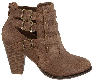 Buckle Ankle Boots - Tan - Blue Chic Boutique  - 4