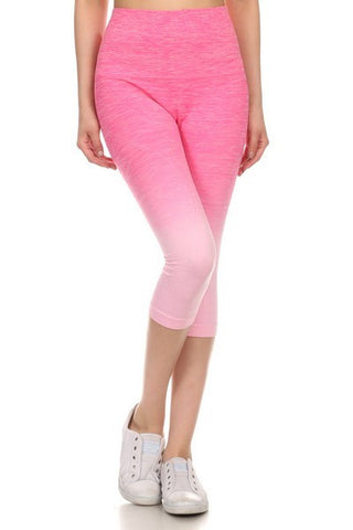 Yoga Capri Pants - Pink - Blue Chic Boutique  - 2