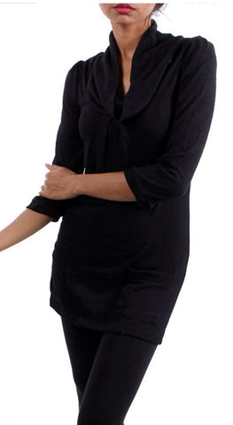 Tunic Top with pockets - Black - Blue Chic Boutique  - 1