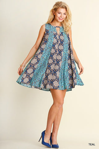 Shades of Blue Dress - Blue Chic Boutique  - 4