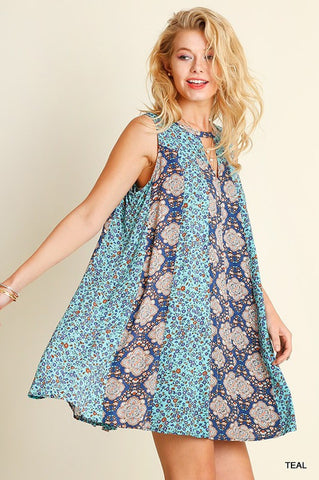 Shades of Blue Dress - Blue Chic Boutique  - 2