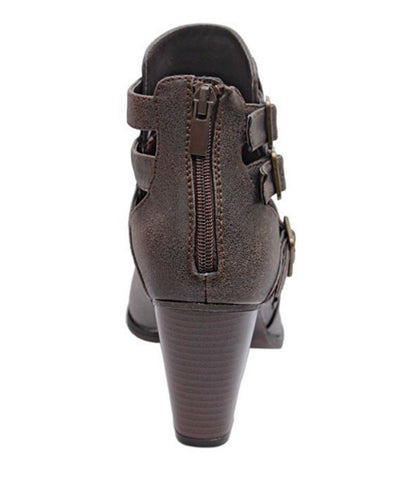 Buckle Ankle Boots - Brown - Blue Chic Boutique  - 5