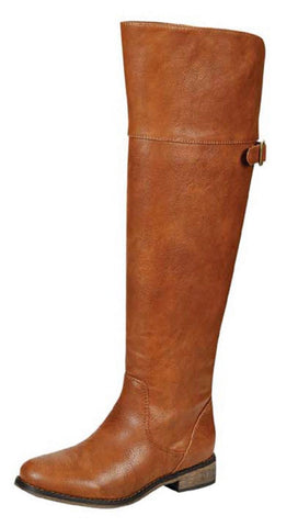 Tall Riding Boots - Tan - Blue Chic Boutique  - 1