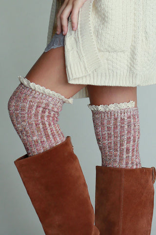 Boot Socks - Red - Blue Chic Boutique  - 2