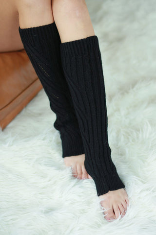 Cable Knit Leg Warmers - Assorted Colors - Blue Chic Boutique  - 4