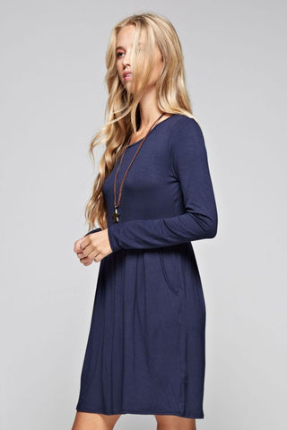 Perfect Fall Day Dress - Olive - Blue Chic Boutique  - 5