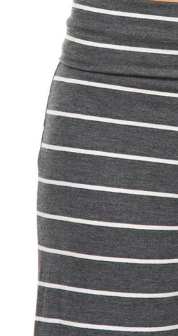Casual Striped Pants - Charcoal - Blue Chic Boutique  - 5