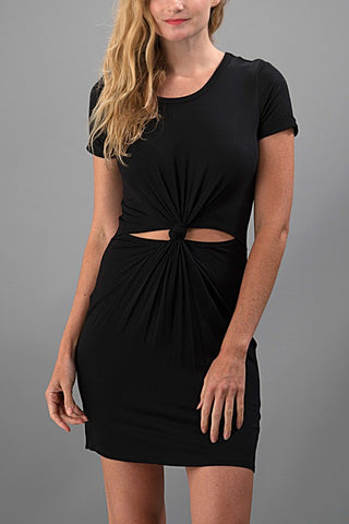 A Little Bit Knotty Dress - Black - Blue Chic Boutique  - 1