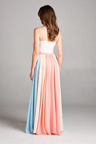 Twirlable Maxi Skirt - Coral - Blue Chic Boutique  - 3