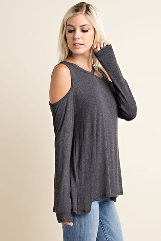 Winery Tour Top - Charcoal - Blue Chic Boutique  - 1