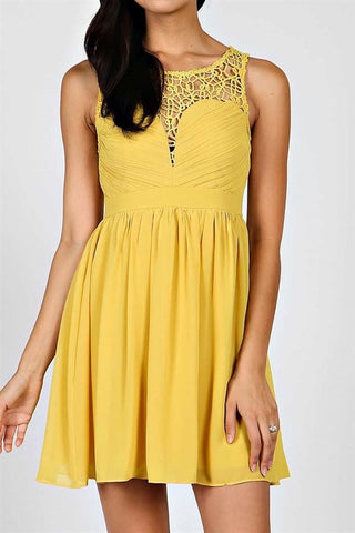 Opulent Dress - Mustard - Blue Chic Boutique  - 3