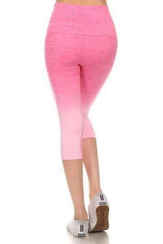 Yoga Capri Pants - Pink - Blue Chic Boutique  - 3