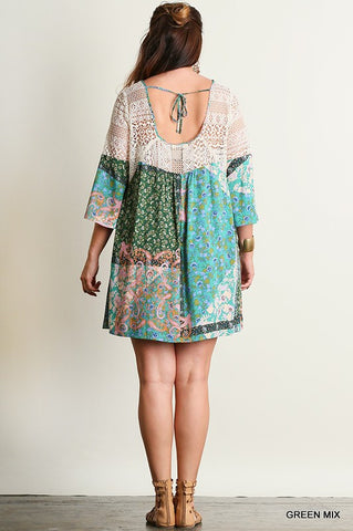 Free Spirit Dress - Green - Plus - Blue Chic Boutique  - 3