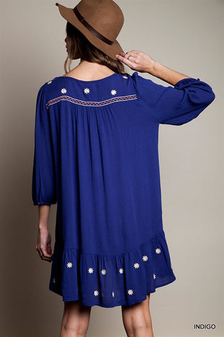 Summer Concert Boho Dress - Indigo - Blue Chic Boutique  - 4