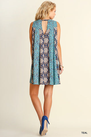 Shades of Blue Dress - Blue Chic Boutique  - 5