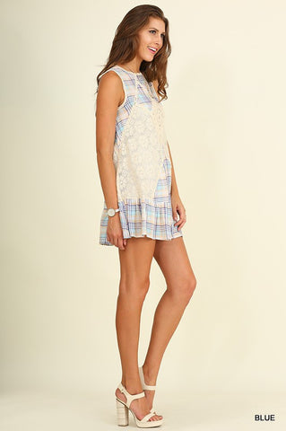 Pretty in Plaid Dress - Blue - Blue Chic Boutique  - 3