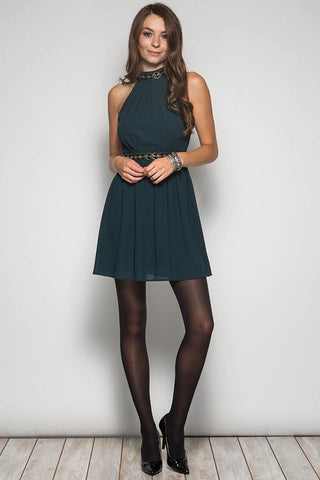 Fall Elegance Halter Dress - Black - Blue Chic Boutique  - 9