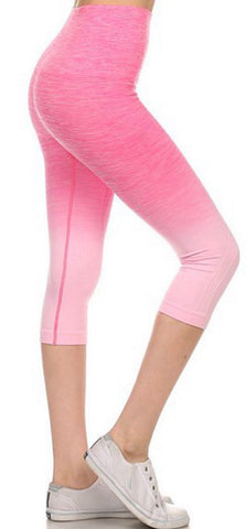 Yoga Capri Pants - Pink - Blue Chic Boutique  - 1