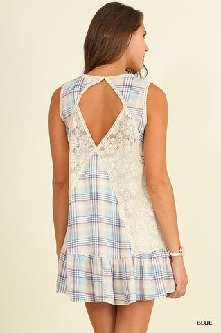 Pretty in Plaid Dress - Blue - Blue Chic Boutique  - 2