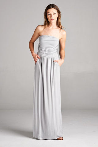 Simple and Stylish Maxi Dress - Cement - Blue Chic Boutique  - 3