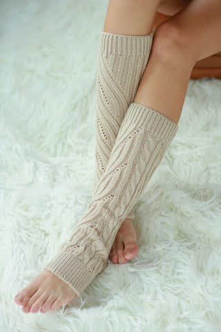 Cable Knit Leg Warmers - Assorted Colors - Blue Chic Boutique  - 2