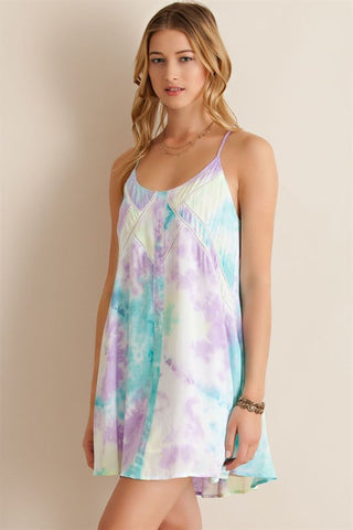 Pastel Watercolor Dress - Lemon Combo - Blue Chic Boutique  - 1