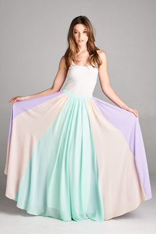 Twirlable Maxi Skirt - Mint - Blue Chic Boutique  - 1