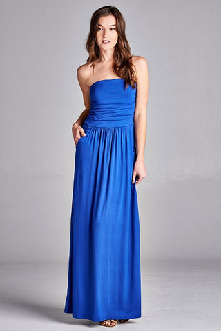 Simple and Stylish Maxi Dress - Royal - Blue Chic Boutique  - 1