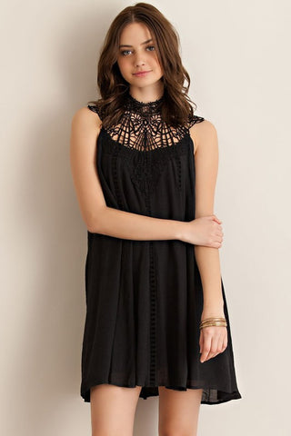 Lace Glam Dress - Black - Blue Chic Boutique  - 1